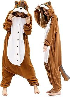 vavalad Adult Squirrel Pajamas Cosplay Animal Christmas Onesie Costume Women Men