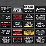 20 Pack Tactical Morale Patches, Funny Military Patch Embroidery Army Badge Set for Backpack Hat Vest