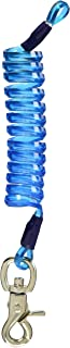 LLB SPORTS(エルエルビースポーツ) カラビナ付 コイルコード L 長さ約22cm ブルー 1101
