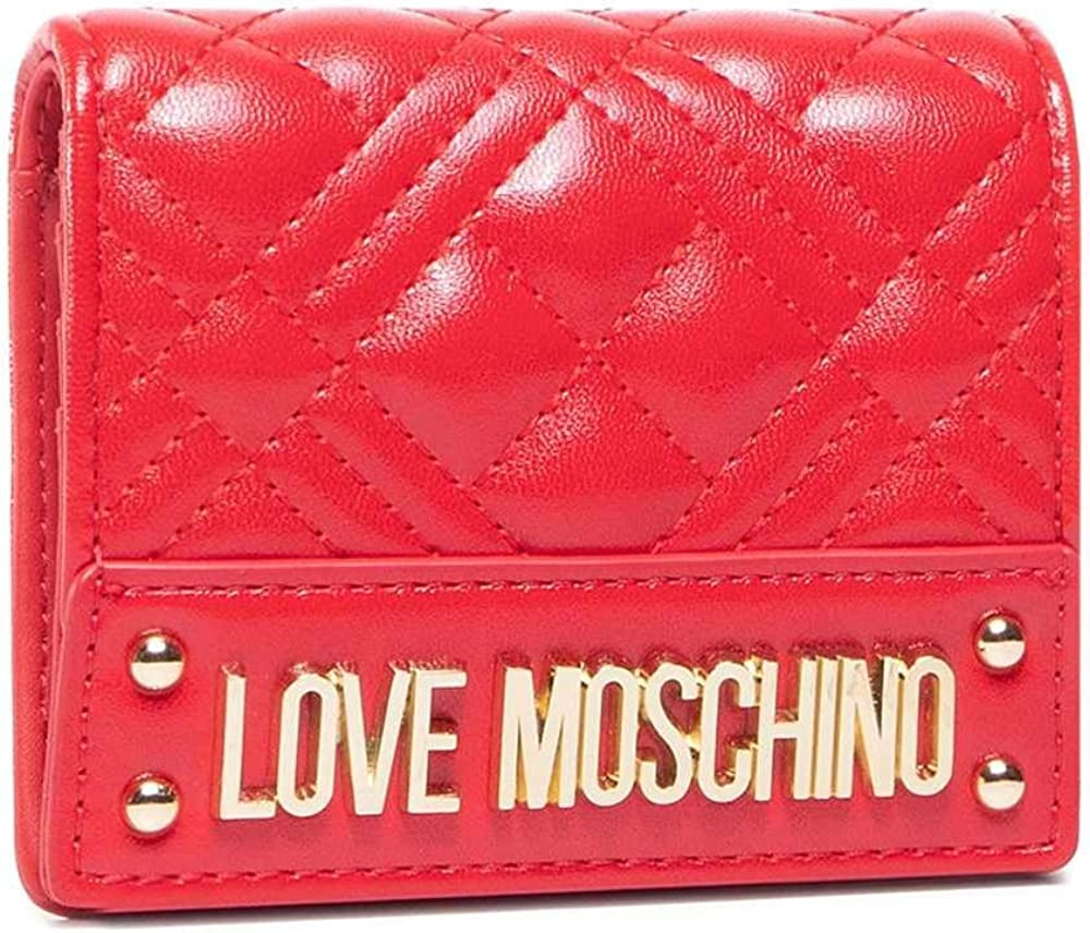 Love moschino, portafoglio da donna, porta carte di credito, in pelle sintetica Jc5631pp0bka0A