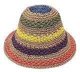 GEMVIE - Sombrero de Paja Mujer para Playa Transpirable Somb