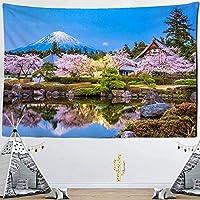 タペストリー自然風景さくら寮デコレーションファミリーリビングルーム寝室壁タペストリー150x100cm