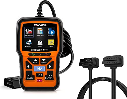 high quality FOXWELL 2021 popular NT301 OBD2 Scanner Professional Mechanic OBDII Diagnostic Code Reader Tool for Check Engine Light with OBD ii 16PIN Cable outlet sale