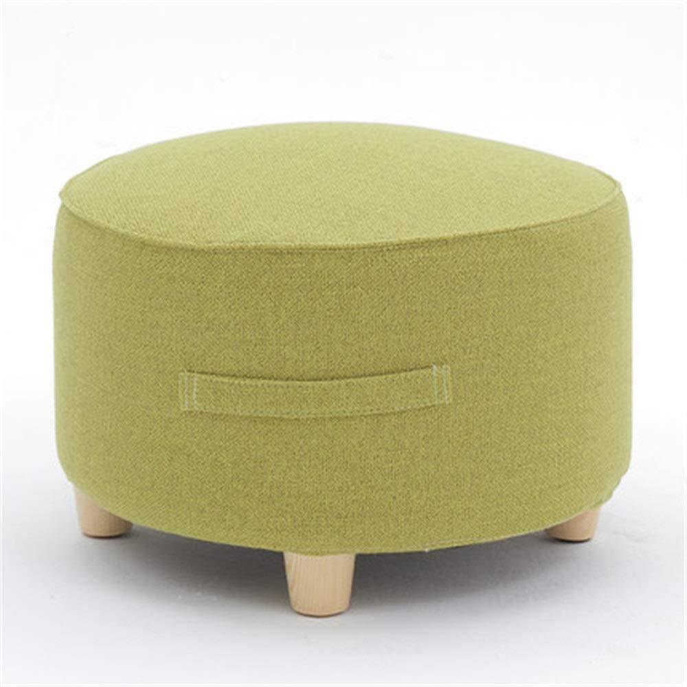 家庭用家具 取り外し可能で洗えるカバーウッドロースツールオスマンフットスツール丸椅子スツールファブリックのカバーでシンプルな北欧スタイルの家庭装飾木製スツール (色 : 3, サイズ : Free size)