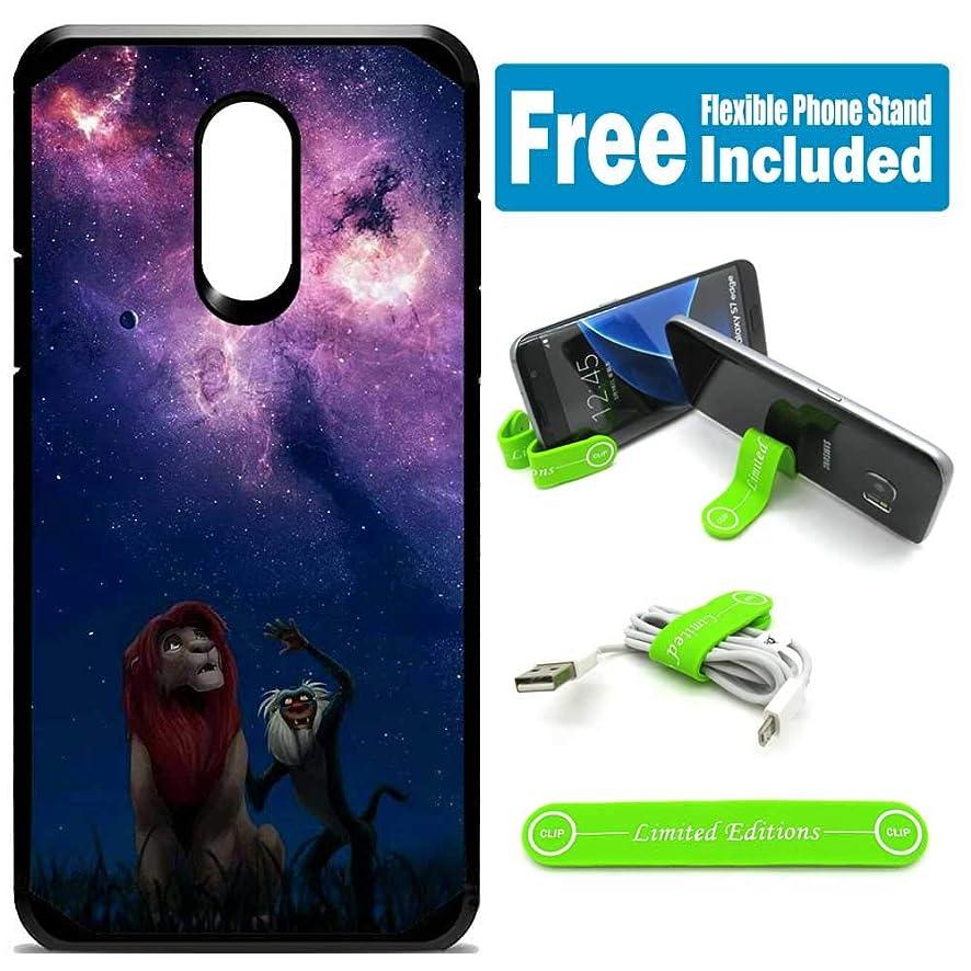 for Samsung Galaxy [J7 2018] [J7 Star] [J7 Refine] [J7 Aero] [J7 Eon] [J7 Crown] [J7 Aura] Defender Rugged Hard Cover Case - Lion King Galaxy