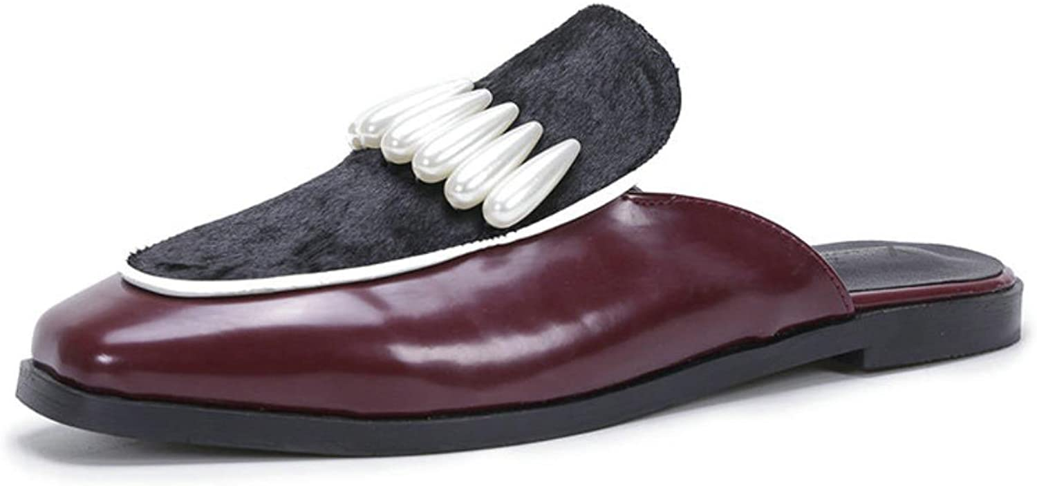 New arrival Cheap Price Pu leather Round toe Rivet single shoes women