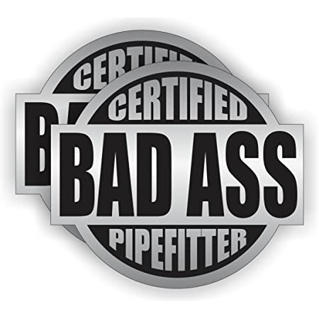 Pipefitter UM Stickers   3 inches Hard Hat Decal waterproof
