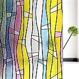 LMKJ Película autoadhesiva de privacidad de Ventana, Control de Calor doméstico, protección UV, Vinilo, Ventana, Vidrio, Puerta y Ventana, Pegatina A2 45x200cm