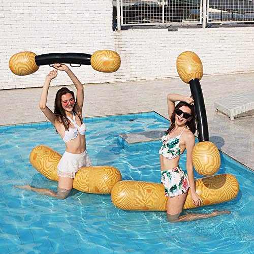 4 Pcs Package Inflatable Floating Water Toys Aerated Battle Logs,Floating Bed Pool Lounger Giant...
