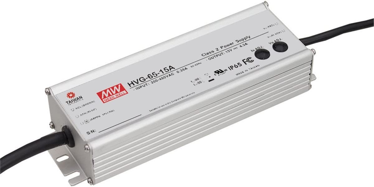 Ranking TOP18 MW Mean Well Original Ranking TOP3 HVG-65-24A 24V Single LED 2.7A 65W Output
