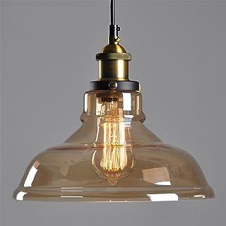 Techo transparente araña de lámpara de techo de sombra cortina de cristal araña de reequipamiento lámpara de techo Vintage Retro techo industriales Lámpara de techo E27 Línea colgante 1.5 m (ajustable)