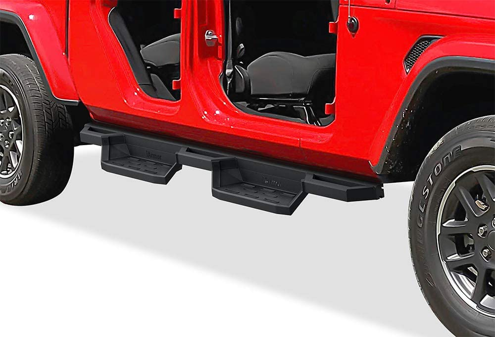 APS Drop Steps Running Boards Rocker Slider Compatible with Jeep Gladiator 2020-2022 Crew Cab