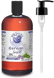 NEW Borage Seed Oil. 16oz. Cold-pressed. Unrefined. Organic. 100% Pure. PA-free. Hexane-free. GLA Oil. Natural Moisturizer...