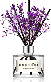 Cocod'or Preserved Real Flower Reed Diffuser, Lavender Reed Diffuser, Reed Diffuser Set, Oil Diffuser & Reed Diffuser Sticks, Home Decor & Office Decor, Fragrance and Gifts, 6.7oz