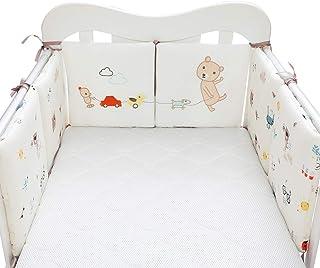 MJL 6 PCS Baby Cot Bumper Wrap Around Protection Head Guard Cot Liner Bedding Crib 100% Cotton Crib Bumpers 30 * 30 * 2cm