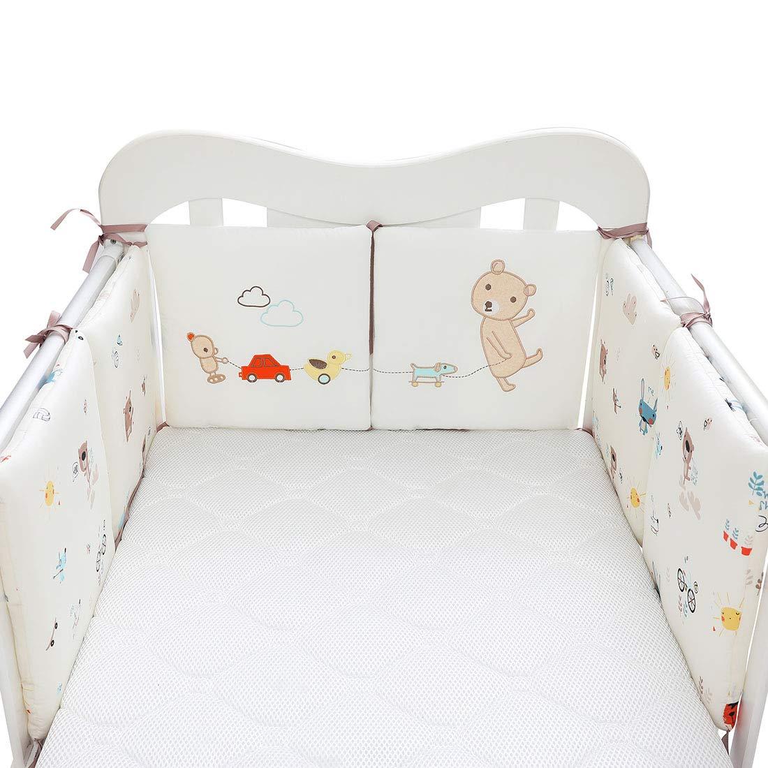 HengST Bettumrandung Baby Nestchen Weich Baumwolle Bettnestchen Kissen f/ür Babybett mit Muster Universal geeignet f/ür Jungen und M/ädchen 30x30 cm 6 St Set #1 30x30cm