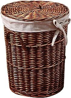 Laundry Bag Panier de rangement pour vêtements sales, salle de bain, panier de rangement durable (couleur : marron, taille...