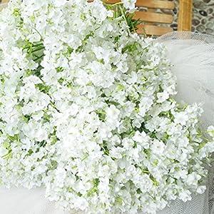 Grade-A Silk Artificial Baby Breath Gypsophila Flower Wedding Home Decor Gift (10pcs)