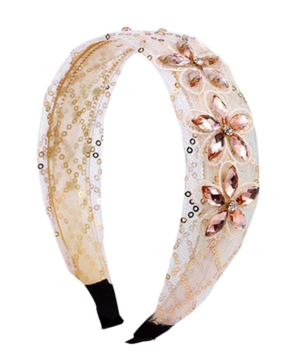 洞察力カカドゥピルファー美しいラインストーンレースの髪の装飾品ヘアフープヘッドバンドヘアバンド