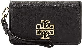 Womens 60417 Britten Smart Phone Wallet Snap Wristlet Phone Case Wallet, Black/Rolled Gold