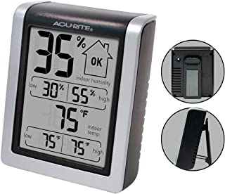AcuRite 00613 Digital Hygrometer & Indoor Thermometer Pre-Calibrated Humidity Gauge,..