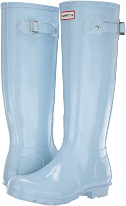 dce65c63edc2 Boat Blue. 109. Hunter. Original Tall Gloss Rain Boots