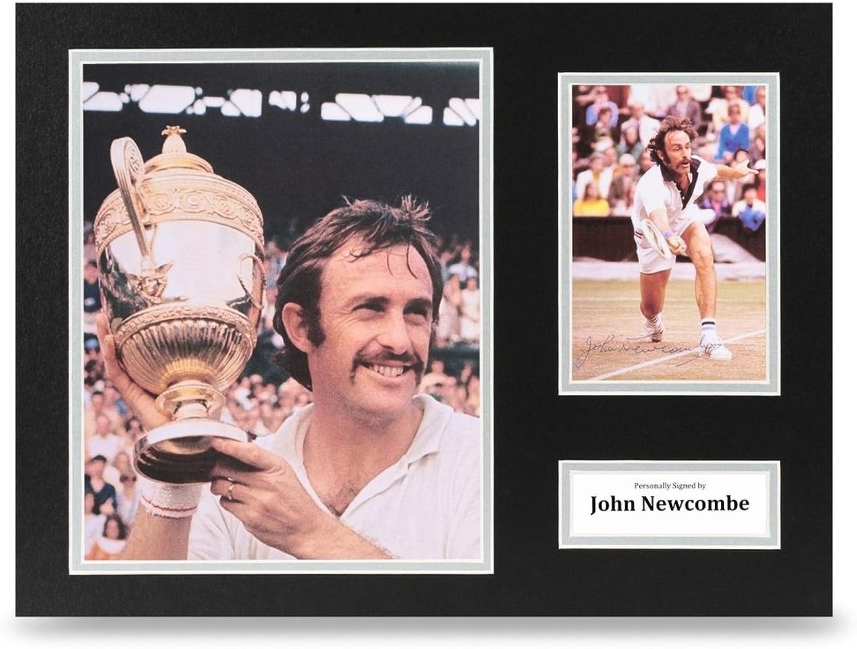 John Newcombe Signed 16x12 Photo Display Tennis Autograph Memorabilia + COA