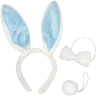 Amscan Egg-stra Special Fluffy Blue Easter Bunny Ears Headband Party Costume