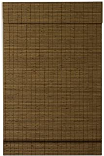 Lewis Hyman Cordless Window Maple Cape Cod Flatweave Bamboo Roman Shade with Valance, 48 Inch Width x 64 Inch Length, 2216218E