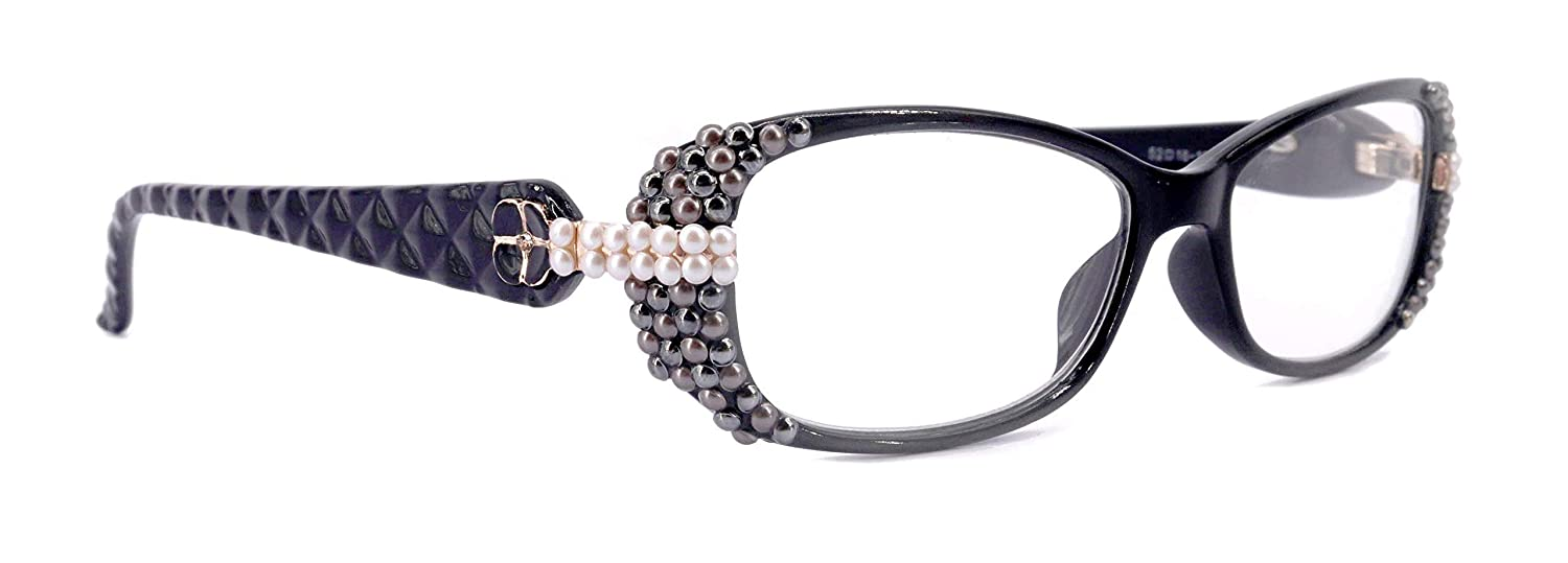 Glamour Quilted Bling Pearl New Free Shipping Reading Glasses for Women Sale SALE% OFF Adorn