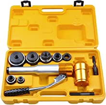 Yescom 6 Ton Hydraulic Knockout Punch Driver Kit 6 Dies Hole Punch Knockout Set 11-gauge with Swivel Head