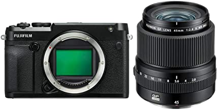Fujifilm GFX 50R Medium Format Mirrorless Camera (Body Only) FUJINON GF 45mm F/2.8 R WR Lens