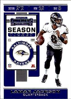 2019 Panini Contenders #15 Lamar Jackson Baltimore Ravens Football Card