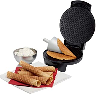 Decdeal Double-Side Non-Stick Crispy Egg Roll Cone Baking Mould Ice Cream Maker Waffles Frying Pan Baked Goods for Kitchen...