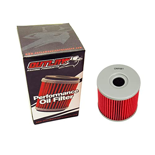 Outlaw Racing ORF681 Performance Oil Filter HYOSUNG GT650 GT650R GT650S GV650 ST7 Street Motorcycle Replaces KN681