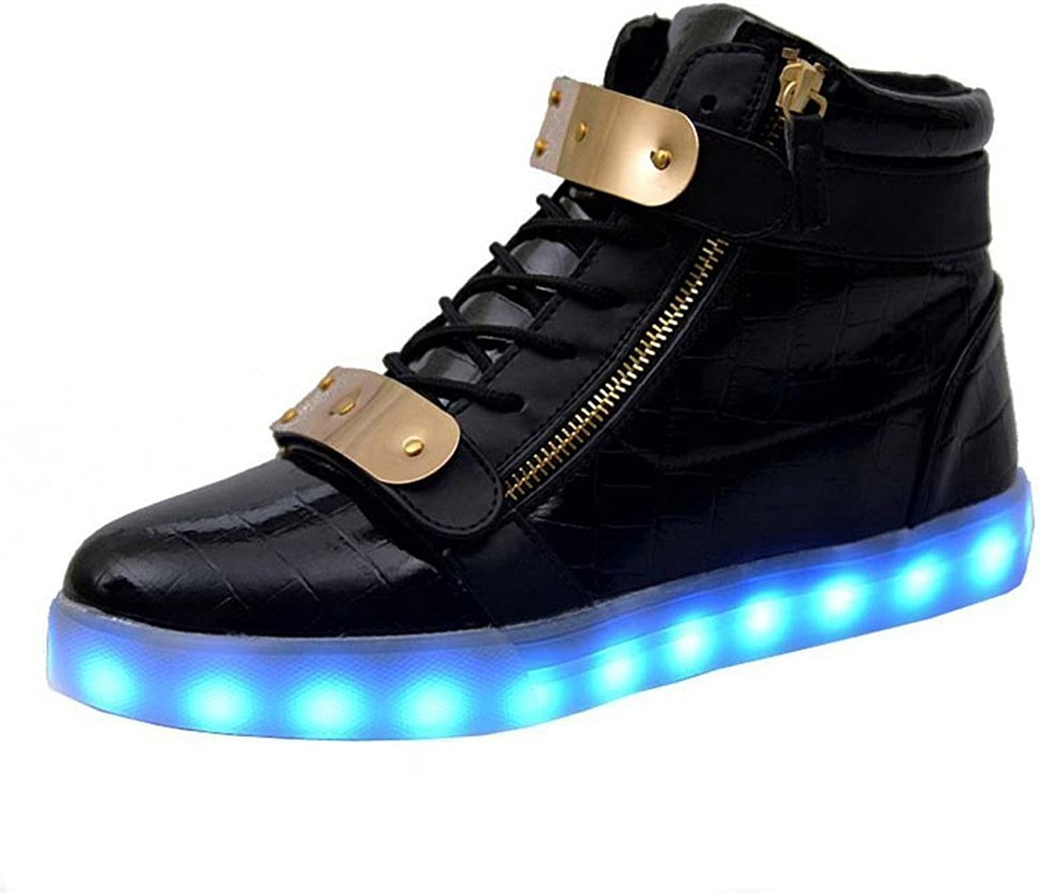 Jedi fight back LED Light Up shoes Lace Up Fashion Casual High Top Sneakers shoes for Men Women