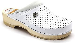 LEON B2M Sabots Mules Chaussons Chaussures en Cuir Homme
