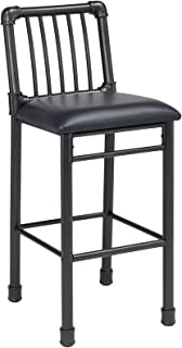 Acme Furniture 72032 Caitlin Bar Chair (Set of 2), Black PU & Black