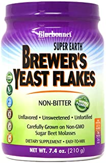 Bluebonnet Nutrition Super Earth Brewers Yeast Flakes, Super Food, Whole Food, Source for Vitamins, Great Tasting, Vegan, ...