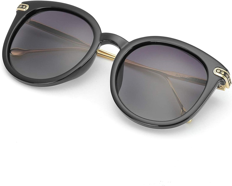 MuJaJa Retro Polarized Round Sunglasses for Women, UV400 Predection Lens Lightweight Frame, Mod Vintage Eyewear for Driving