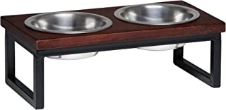 Loving Pets Black Label Layton Cherry Top Raised Diner, Wood, 1 Pint (7692)