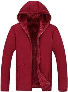 Men Pullover Winter Jackets Hooed Fleece Hood Sweatshirt Thick Coats