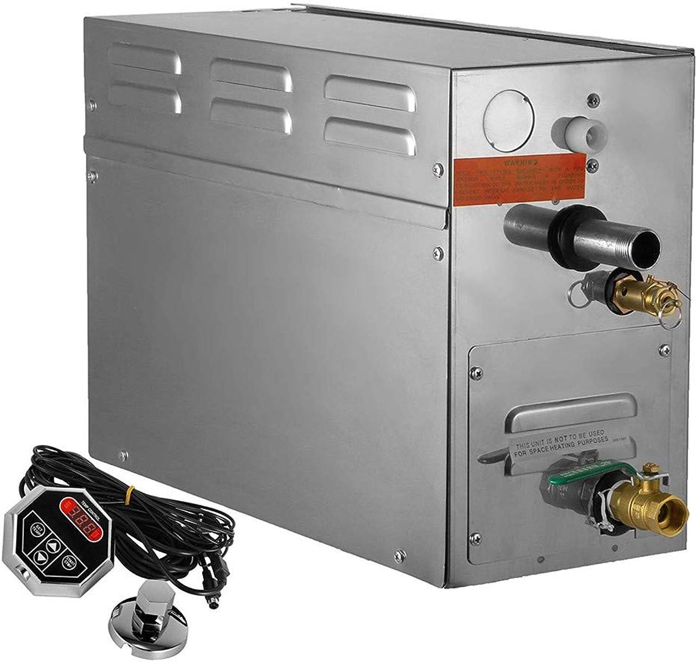 HUKOER Dampferzeuger 7 KW Dampferzeuger Digitalanzeige Sauna Dampferzeuger für Duschen und Duschen für den privaten Gebrauch