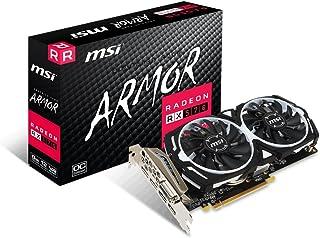 MSI Radeon RX 570 Armor ARMOR 8G OC - Tarjeta gráfica (refrigeración Armor 2 X, memoria de 8 GB GDDR5)