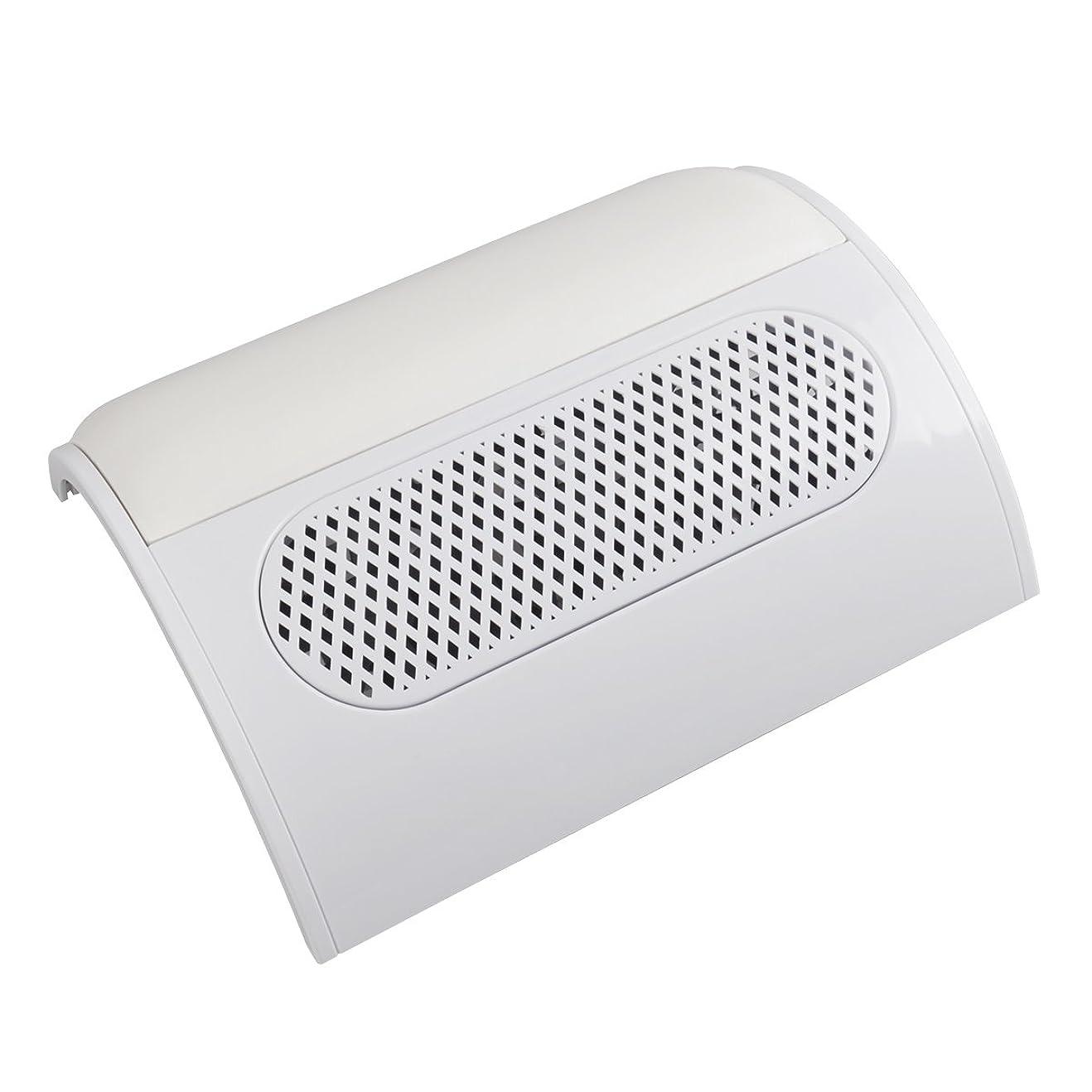 暖かさ情緒的科学者(ビュティー)Biutee メタリックホワイト ネイルダスト 3連ファン集塵機 集塵バック3枚付き ダストクリーナー ジェルネイル ネイル機器 (白)