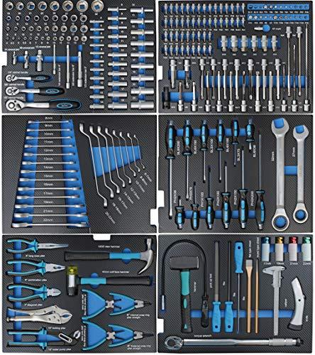 XXL Edition | Werkzeugwagen – Werkstattwagen – 6 Schubladen gefüllt mit Werkzeug | Bit Sets, Ratschen, Nüsse und vieles mehr… - 7