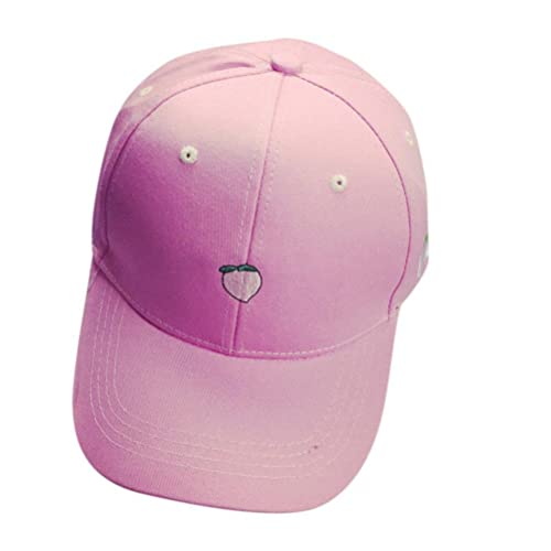 fa154e285e03a OutTop Fruit Embroidery Cotton Baseball Cap Boys Girls Snapback Hip Hop  Flat Hat