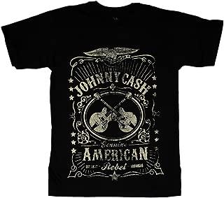 Johnny Cash Men's American Rebel Label T-Shirt