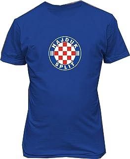 Janllow HNK Hajduk Split Croatia Soccer Football Male Cotton Tee Shirt