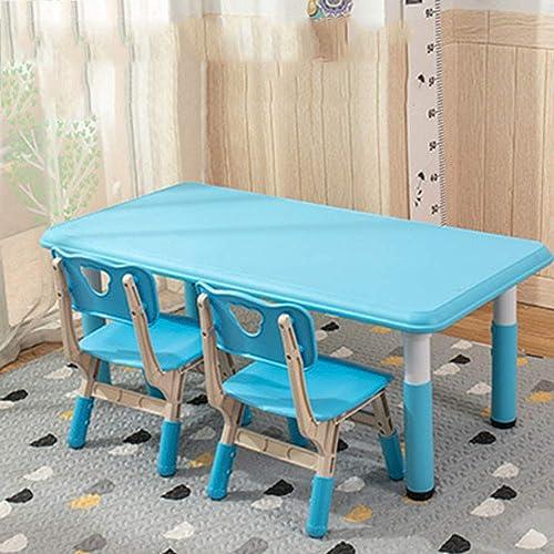 [1 Tisch 2 StüHle] Hubtisch Und Stuhlgarnitur - Spielzeugspieltisch Studiertisch   Haushaltskunststofflehnenstuhl